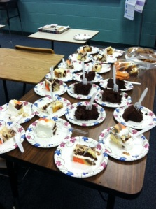 The delicious scene in my classroom this week.