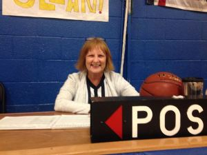 At my Loyalton High scorekeeping table!