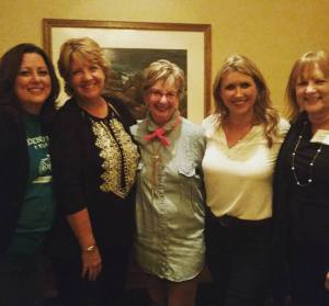 We've been writer prayer friends for 20+ years: Tricia Goyer, Robin Gunn, Janet Grant (also my agent!), Cindy Martinusen Coloma and me
