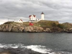 One of our favorite sights was this beautiful lighthouse off the southern coast of Maine.